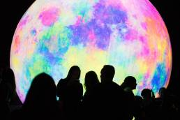 Luminaria 2019 Giant Illuminated Globe with Crowd