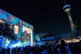 Luminaria 2019 Projections with Crowds